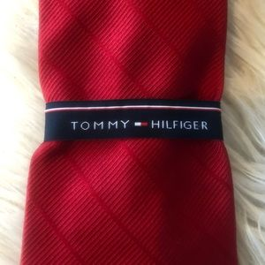 Tommy Hilfiger Red Neck Tie Business Suit Wear